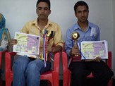 Students with awards and prize