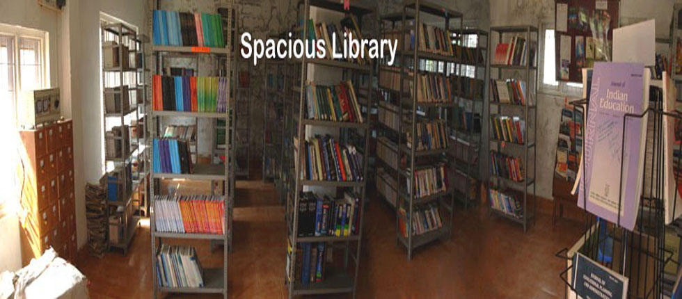B.Ed College Library within College Campus at Bandipora